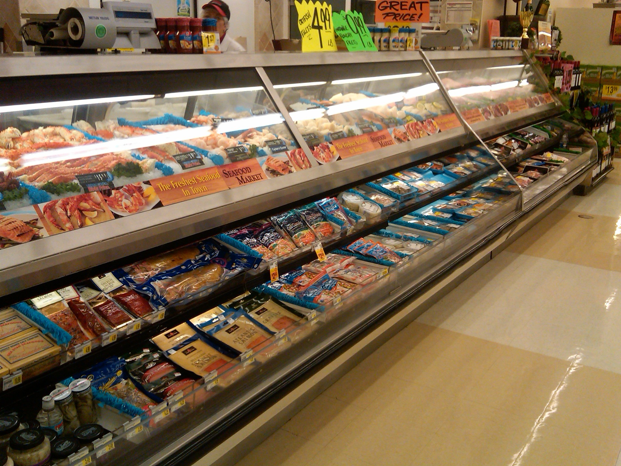 12 39 hussmann over under fish case meat deli cases meat for The fish store
